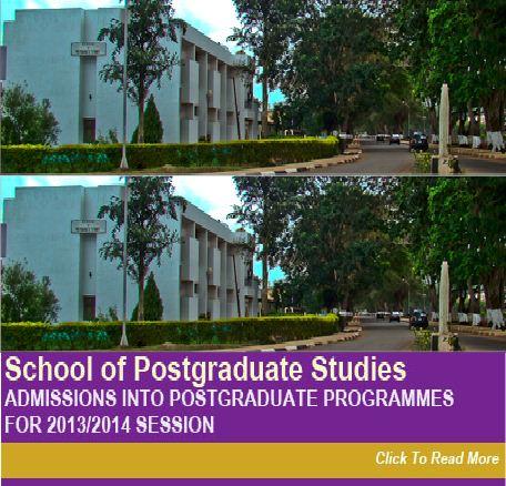 2014-2015 UNN Postgraduate admission