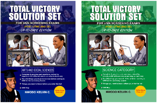 unn post utme past questions and answers total victory solution set TVSS unn post ume past questions