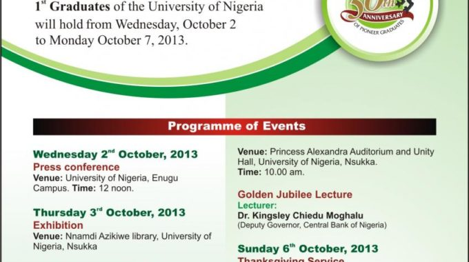 UNN 53rd Founders' Day Celebration 2013