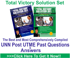 Total Victory UNN Post Utme Past Questions