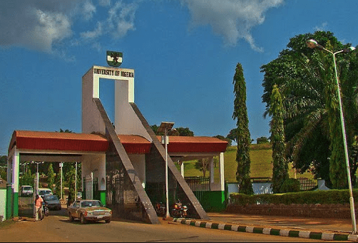 University of Nigeria UNN entrance main gate in Nsukka