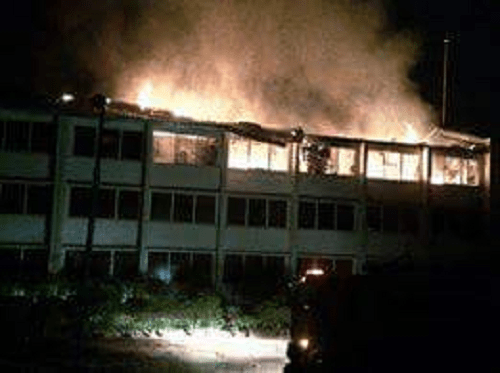 Fire Outbreak At Okeke Hall Today [Photos]