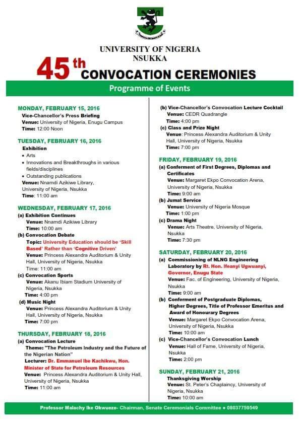 unn convocation programme