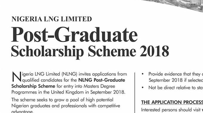 NLNG Postgraduate Scholarship 2018 Award Form is Out