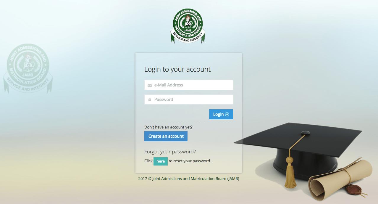 JAMB Admission Status Portal CAPS