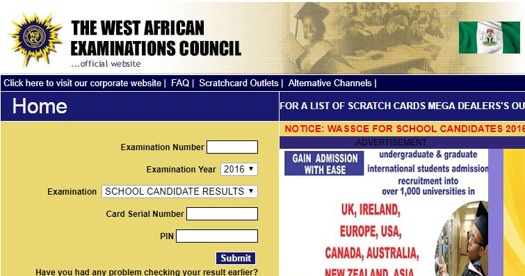 www waec direct org website