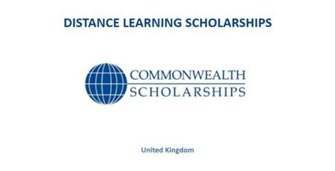 Commonwealth Distance Learning Scholarships for Postgraduate Students 2017