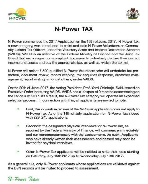 notice n-tax