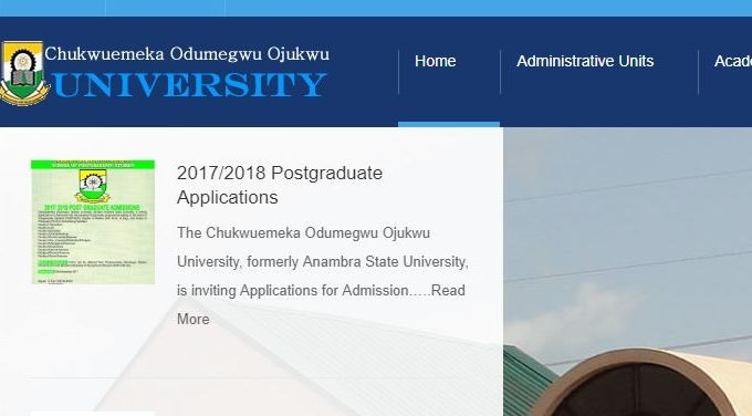 ANSU Postgraduate Admission Form 2017/2018 is Out