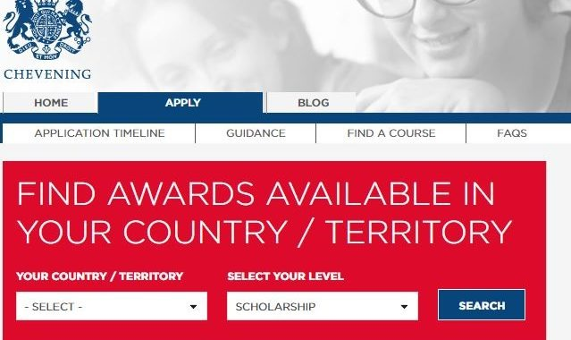 2018/2019 Chevening Scholarship Application Commences