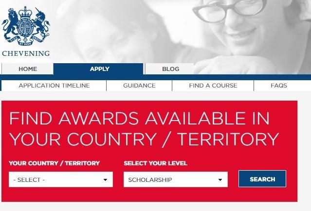 chevening scholarship form 2017 application