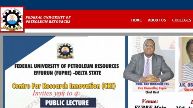 FUPRE Post UTME 2017 Cut off Mark & Application Form Released