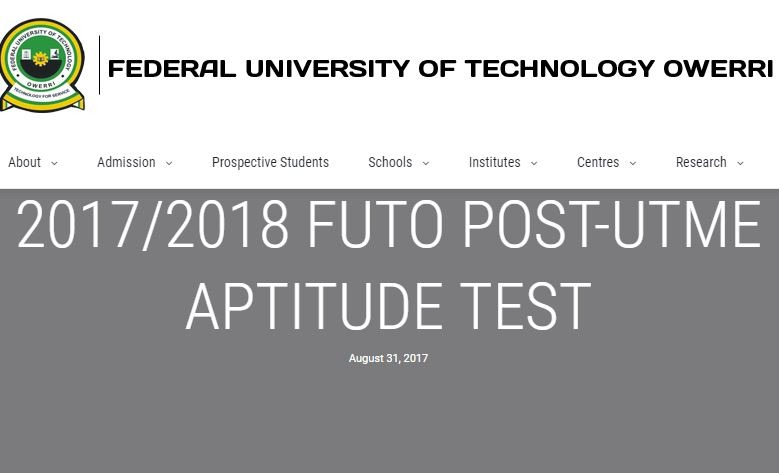 futo post utme form 2017