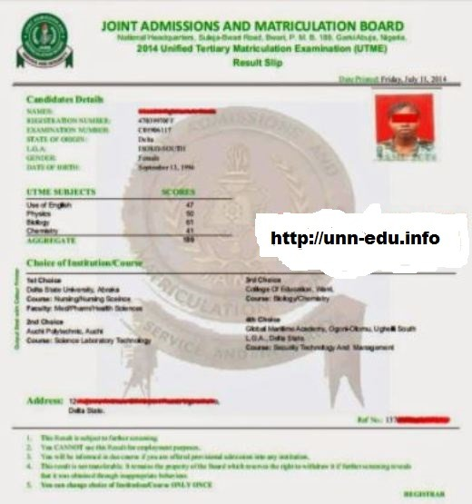 jamb admission letter printing