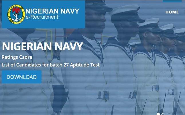 nigerian navy shorlisted candidates 2017