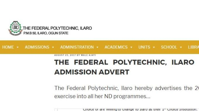 Fed Poly Ilaro Departmental Cut-off Marks 2017/18 is Out – Check Here