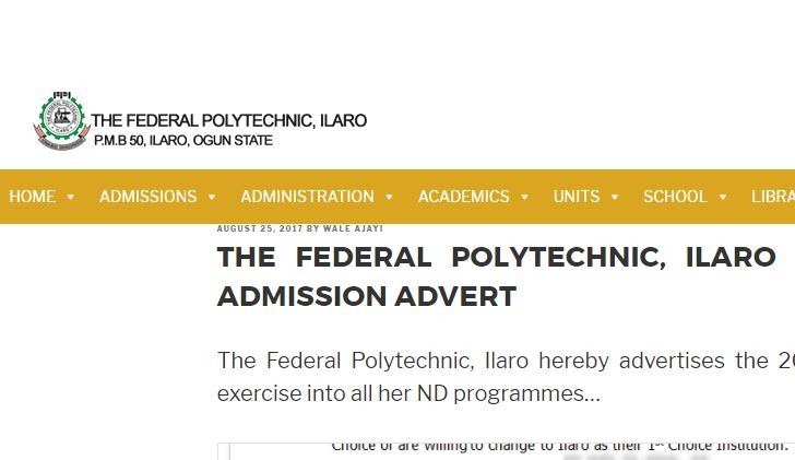 poly ilaro post utme form