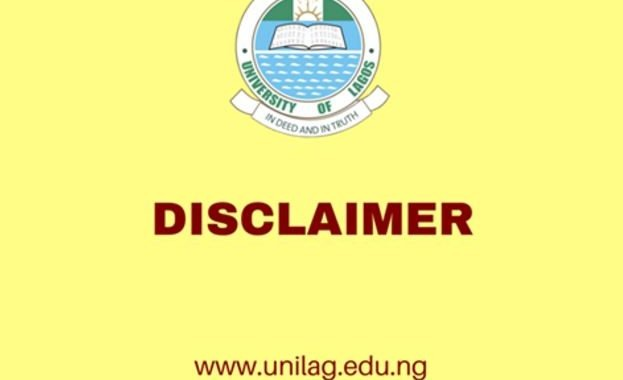 UNILAG Disclaimer Notice On 2017/2018 Admission Exercise Advertisement
