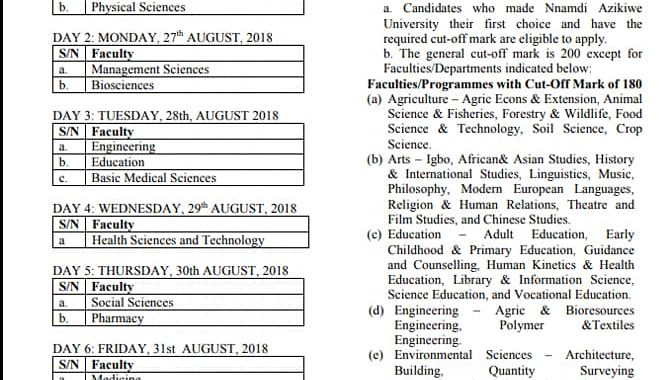 UNIZIK Post Utme 2018 Cut off mark, Exam date, Form is Out