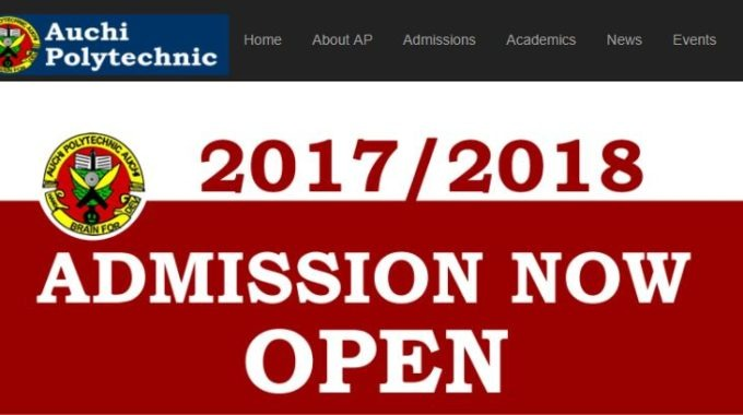Auchi Poly Evening Programme Admission Form 2017/18 is Out