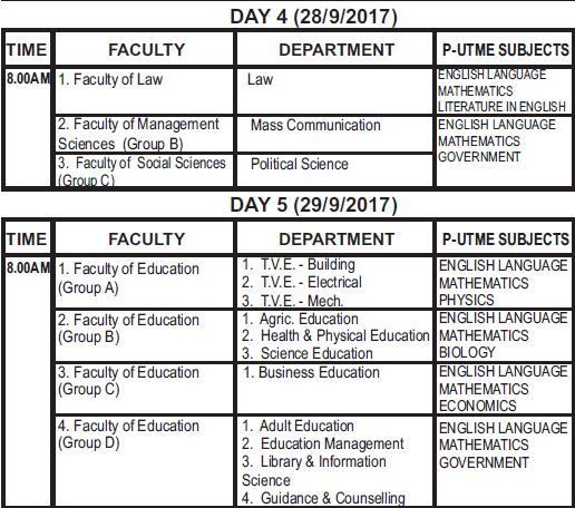ESUT Post Utme Registration Form, Cut off Mark & Screening Date 2017/2018 -See Details