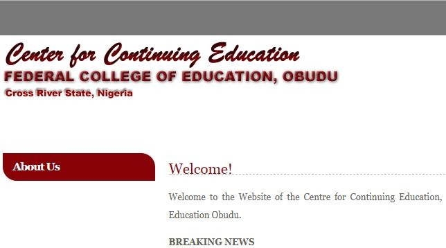 FCE Obudu Post Utme 2017: Form, Cut off Mark & Screening Date