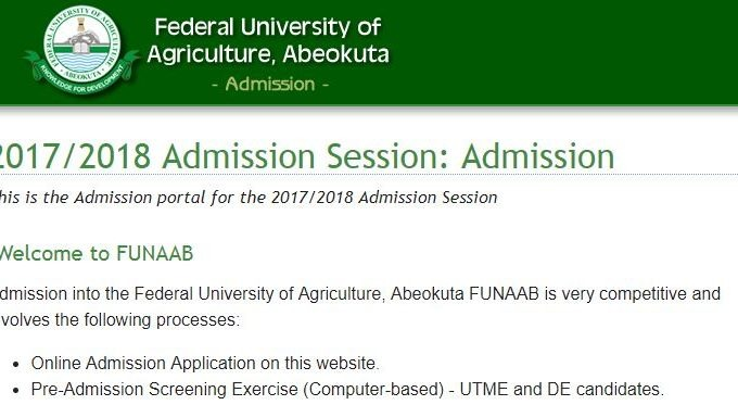 Apply for FUNAAB Part-Time Degree Programmes 2017/18 Session