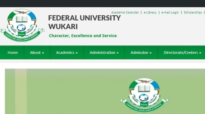 FUWukari School Fees Schedule 2018/2019 is Out