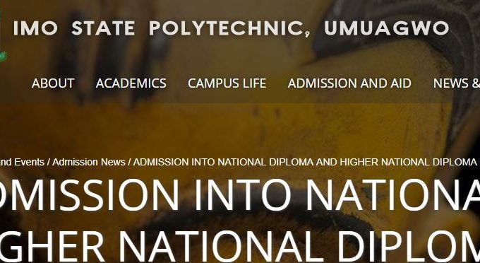 Imo Poly Admission List 2018/ 19 is Out – Check ND & HND Here