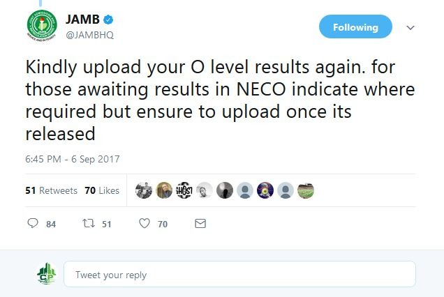 jamb olevel upload