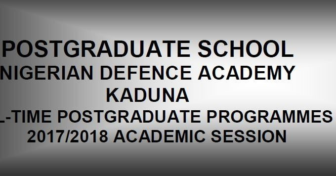NDA Postgraduate Admission Application Form, Requirements 2017/18
