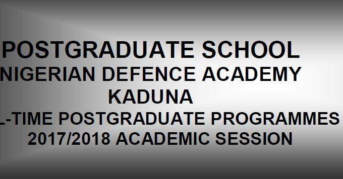 NDA Postgraduate Admission Application Form, Requirements 2017/18