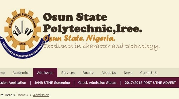 OSPOLY Iree 2017/2018 Post-UTME Result Released – Check Here