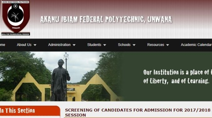 Fed Poly Unwana Post UTME Form 2017: Cut off Mark & Date