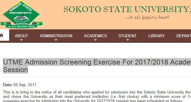 SSU Admission List 2017/2018 is Out – See First Batch Here