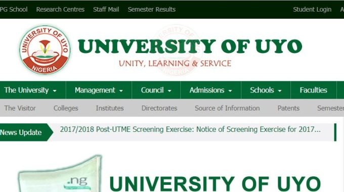 UNIUYO Post UTME 2017 Form: Screening Date, Requirements & Timetable