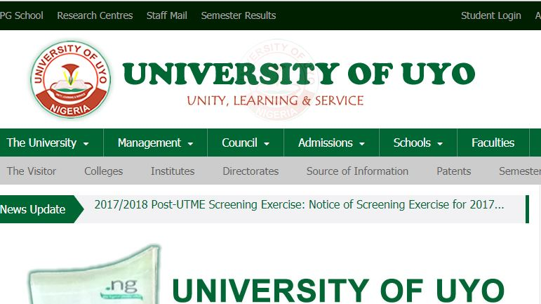 uniuyo post utme 2018