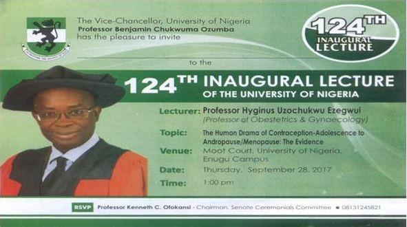 unn 124 inaugural lecture
