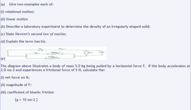 physics short answer questions