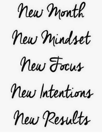 Happy new month message - new mindset