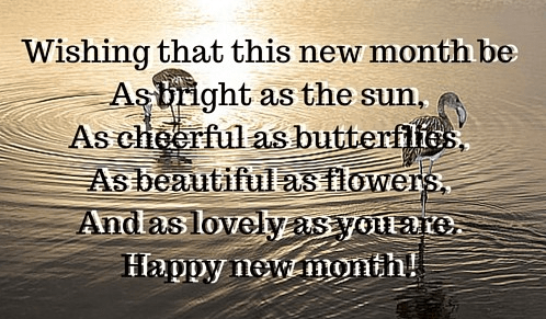 Happy new month messages wishes - as lovely as you are