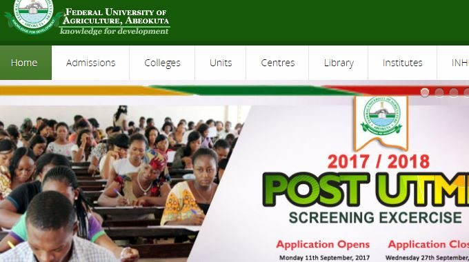 FUNAAB Post Utme Result 2017/2018 Session is Out – Check Here