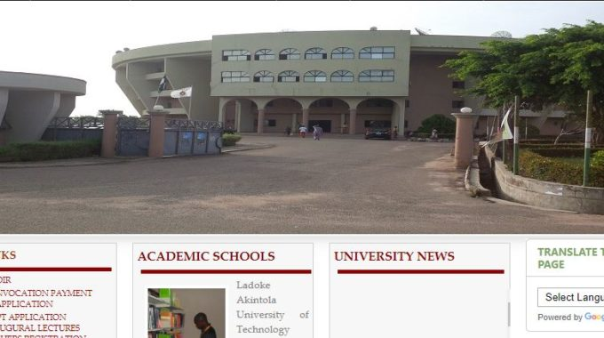LAUTECH Supplementary Form 2018/2019 Post UTME Admission