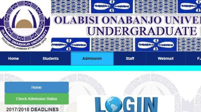 OOU Admission List 2017/18 is Out – Check First Batch Here