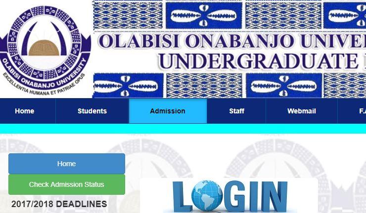 oou admission list 2017