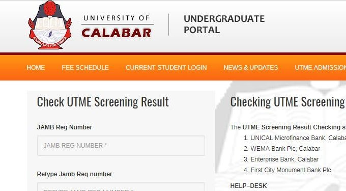 Unical Post-UTME Result 2017/18 Session is Out – Check Here