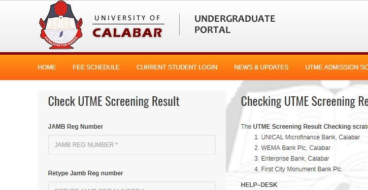 unical post utme result 2017