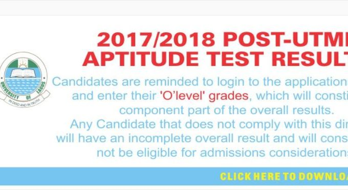 UNILAG Post-UTME Result 2017/2018 Session is Out – Check Here