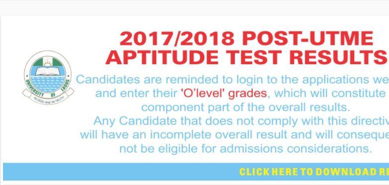 unilag post utme result 2017