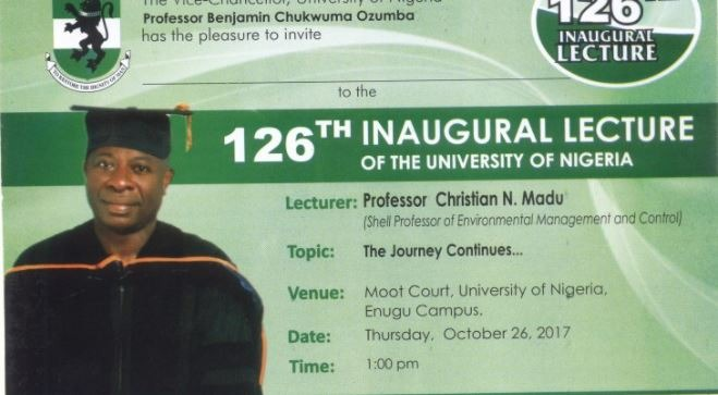 126th Inaugural Lecture of UNN By Prof. Christian Madu